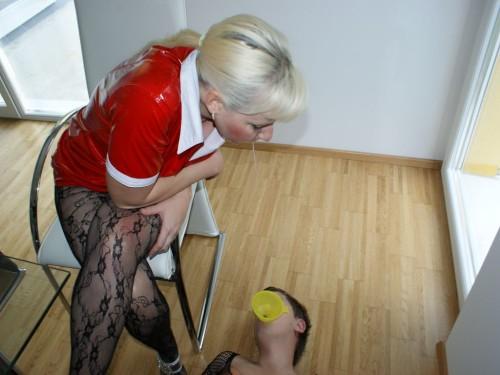 Milf Mistress Spitting